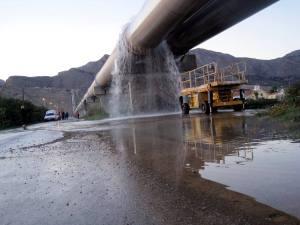 Pérdida de agua en una de las juntas dañada por el continuo cambio de temperaturas